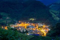 Chai της MU cang στην πόλη στο σούρουπο στοκ φωτογραφία