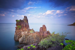 Chai Chet Cape close to Klong Prao Beach, Koh Chang, Trat, Thail Royalty Free Stock Photography