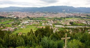 Chai Colombia. Landscape of the town of Chia Colombia taken from a surrounding hill Stock Photography