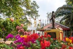 Chai Nat, Tailandia - 12 de enero de 2019: La opinión icónica local de los apuroses príncipe Jumbhorn Khet Udomsak de almirante H imágenes de archivo libres de regalías