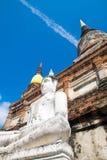 Chai pagoda przy Watem Yai Chai Ayutthaya Thailand zdjęcia stock