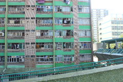 Chai Wan Building. Chai Wan in Hong Kong Stock Image