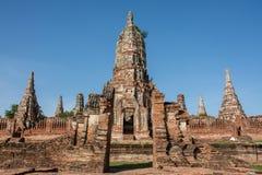 Chai Wattanaram Temple, Ayuddhaya, Thailand Stock Images