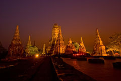 Chai Watthanaram świątynia fotografia royalty free