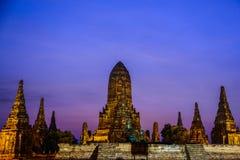 Chai Watthanaram, tempio buddista antico, il destinati turistico Immagine Stock Libera da Diritti