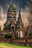 Chai Watthanaram temple ruins. Ayutthaya, Thailand Royalty Free Stock Photo