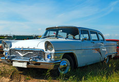 Chaika. Soviet limousine Chaika on the festival of vintage cars, St. Petersburg, Kronstadt, September 6, 2015 Royalty Free Stock Photography