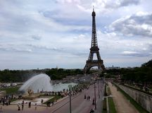从Chaillot宫殿的艾菲尔铁塔 图库摄影