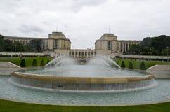 chaillot de palais france paris Berömt kultur Royaltyfri Fotografi