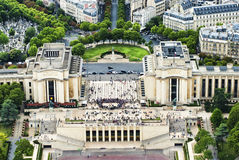 Chaillot palace view from Eifell tower Stock Photos