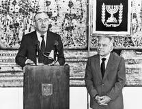 Chaim Herzog und Yitzhak Shamir Lizenzfreie Stockfotografie