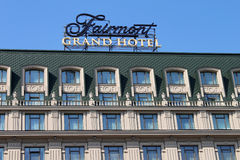 chain öppnat nytt för fairmonthotellkyiv var Arkivbild