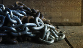 Chain. A couple of fencing chains stock photos