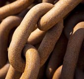 Chain. A old rusty chain in detail Stock Images