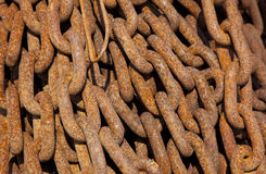 Chain. A old rusty chain in detail Stock Image
