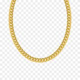 Gold chain isolated. Vector necklace. Gold chain isolated. Vector illustration of necklace stock illustration
