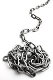 Chain. A chain isolated on white background Stock Image