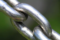 Chain. Link crossing the image stock image