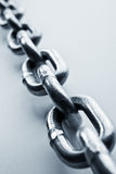 Chain. Fragment of links of a chain close up Stock Image
