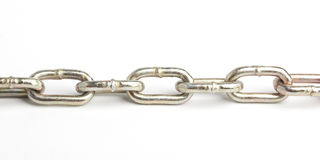 Chain. Links of a thin chain Stock Image