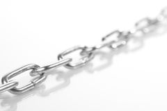Chain. Of steel isolated on white background Stock Photo