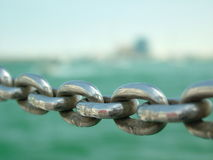 Chain. Detail on Doha's Marina Stock Photo