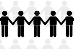 Chain. Group illustration stock illustration