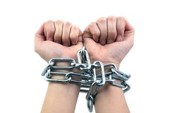 Chain. Ed Up Hands Stock Photo