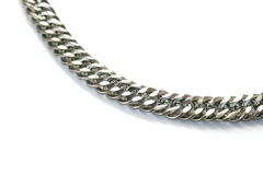 Chain. Silver chain isolated on white background Stock Image
