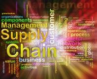 chain administrationstillförselwordcloud Royaltyfri Fotografi