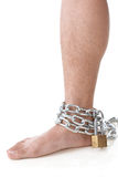Chain on ankle Royalty Free Stock Photography