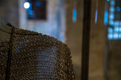 Chain armor. Old original chain armor in a museum showcase Royalty Free Stock Images