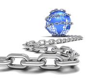 Chain around earth Royalty Free Stock Photo