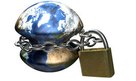 Chain around earth Stock Photo