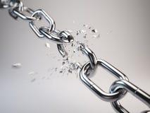 Chain avbrott Arkivbilder