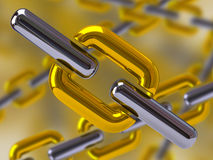 Chain background Stock Photos