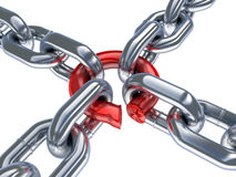 Chain and bad ring Royalty Free Stock Photos