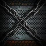 Chain bakgrund för metall Royaltyfri Fotografi