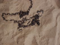 Chain beach sand Stock Images