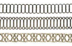 Chain belt collection Royalty Free Stock Photos