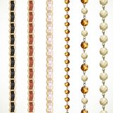 Chain belt with variations of color and a chain of glass beads Stock Photo