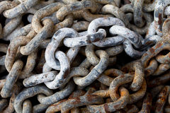 Chain with big shackles Royalty Free Stock Photos