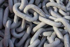 Chain with big shackles Royalty Free Stock Photo