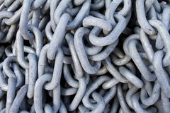 Chain with big shackles Royalty Free Stock Photography