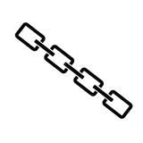 Chain black color art  Royalty Free Stock Image