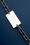 Chain and Blank paper Royalty Free Stock Photo