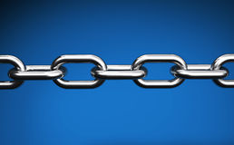 Chain On Blue Web Links Concept Royalty Free Stock Photography
