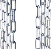 Chain border Royalty Free Stock Image
