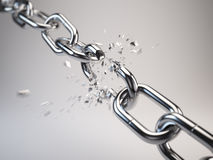 Chain breaking. 3d render render render Stock Images
