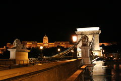 Chain Bridge. At night,Hungary,budapest Royalty Free Stock Photography